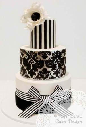 Black and white statement Cake